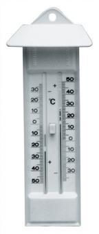 Thermometer Max./Min. m.Drucktaste Ku.-Gehäuse - 5 ST  elfenbeinfarben
