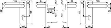 Langschild-Drückergrt.  Birmingham 1117/202SP Bad SK/OL VK 8mm Entf. 78mm
