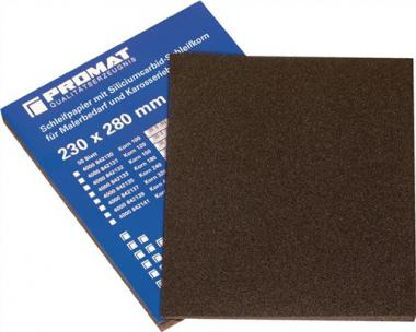 Silicium-Carbid-Papier K.320 sehr fein wasserfest - 50 ST  PROMAT L.280xB.230mm