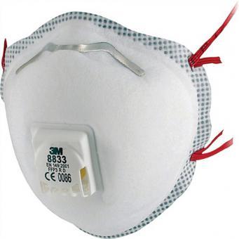 Atemschutzmaske 8833SV FFP3RD b.30xAGW-Wert - 5 ST  3M EN149:2001+A1:2009