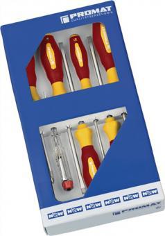 Schraubendrehersatz VDE-isol.Schlitz  3/4/5,5/6,5/PZD1/2 m.Spannungsprüfer