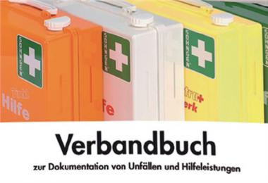 Verbandbuch DIN A5 Dok. v. Betriebsunfällen  Aufbewahrungspflicht 5 Jahre SÖHNGEN