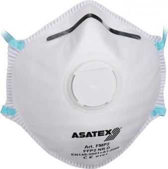 Atemschutzmaske EN 149:2001 + A1:2009 FFP 2 NR D - 15 Stk / 15 ST  mit Ausatemventil ASATEX