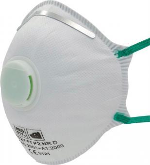 Atemschutzmaske 1912 EN 149:2001+A1:2009 FFP2 NR - 10 Stk  mit Ausatemventil, Pro-Fit