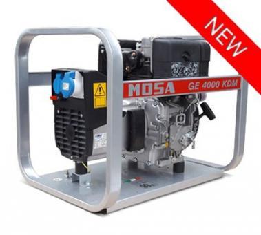 GE 4000 KDM Mosa Stromerzeuger  3,7 kVA, 230 V, Kohler Dieselmotor