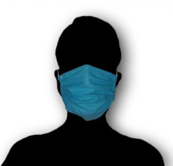 Antibakterielle Baumwoll-Gesichtsmaske, blau, verschiedene Varianten - 50 ST  100% Baumwolle, 60°C waschbar