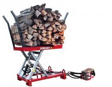 AMR Holzhebetisch, hydraulisch  Hebekraft max. 1000kg, Hubhöhe 103cm
