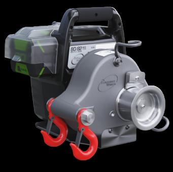 Portable Winch PCW3000-LI incl.2 Akkus & Ladegerät  Akkubetriebene Spillseilwinde, max.Zugkraft 1000kg