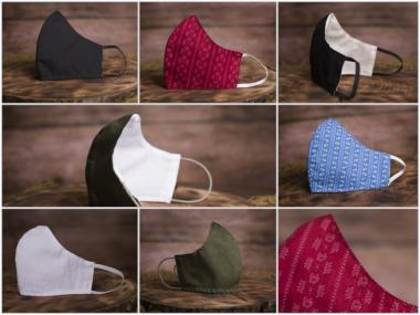 Baumwollmaske Ninja 100% Baumwolle - 1 ST  Hochwertige Verarbeitung, Waschbar bis 90°C, verschiedene Modelle