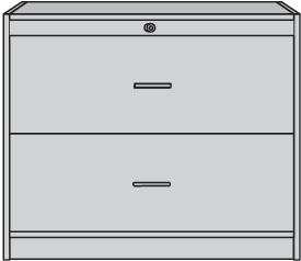 Hängeregistraturschrank H820xB1000xT420mm  2 Schubl.2-bahnig lichtgrau