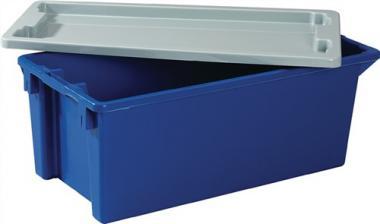 Deckel PP grau passend für  Drehstapelbehälter 13l