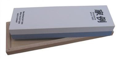 Abziehstein L200xB60xH30mm  1000/3000 im Holzkasten MÜLLER