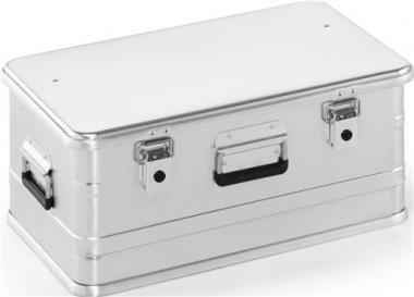 Aluminiumbox 47l L582xB385xH262mm  mit Klappverschluss ohne Stapelecken