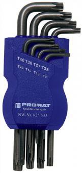 Winkelschraubendreher Satz 8tlg. TORX® 9-40  PROMAT rostgeschützt