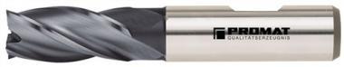 Schaftfräser DIN844 Typ N D.12mm HSS-Co8  TiCN 4 Schneiden kurz
