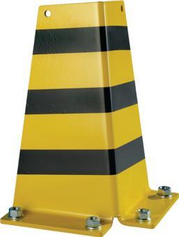 Anfahrschutz H.322xB.166mm  schwarz/gelb für Schwerlastregal a 4 Stück
