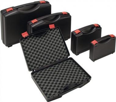 Kunststoffkoffer PP schwarz  mit Schaumstoffeinlage L235xB185xH48mm