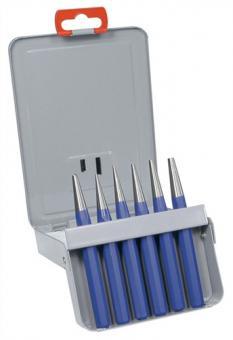 Durchtreibersatz 6tlg. 1-5 u.10mm m.Körner  PROMAT Metallkassette