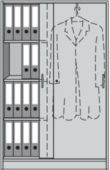 Schiebetürenschrank H1560xB1000xT420mm  3 Böden Garderobe re.Buche/alusilber