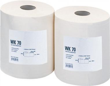Putztuch WK70 weiß reißfest  L.380xB.290mm 500Abrisse
