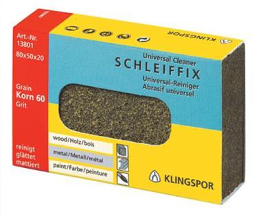Schleiffix K.60 grob 80x50x20mm z.Reinigen  KLINGSPOR u.Polieren