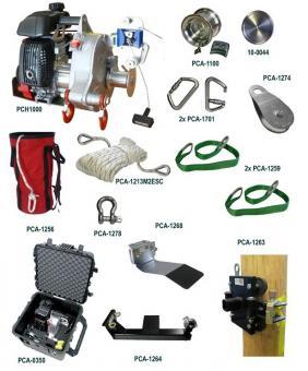 Portable Winch SORTIMENT ZUM HEBEN  mit PCH1000 Zug/Hubwinde; Benzinantrieb