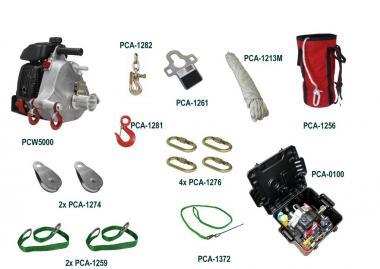 Portable Winch JAGD SORTIMENT  mit PCW5000 Zugwinde; Benzinantrieb