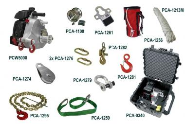Portable Winch MEHRZWECK  SORTIMENT  mit PCW5000 Zugwinde; Benzinantrieb