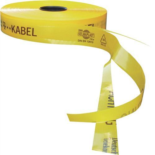 Trassenwarnband, T-Kabel, gelb, 50 mm 250 m