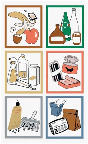 Piktogramm farbiges Set f.Wertstoffsammler