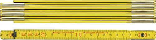Holzgliedermaßstab 1m gelb BMI