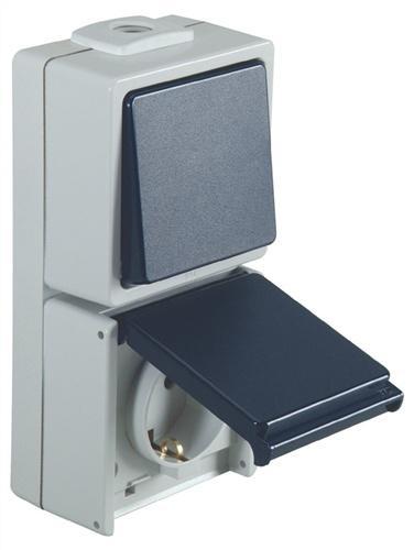 Schalter-/Steckdose Aus-/Wechsel 230V 10/16A