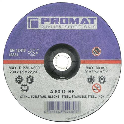 Trennscheibe f.VA/Blech D.180x1,5mm S.1,5mm - 25 ST