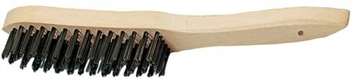 Drahtbürste 2reihig L.290mm Guss Draht-D.0,35mm