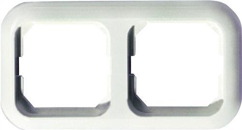 Abdeckrahmen 2fach reinweiß f.Senk-/Waagerecht