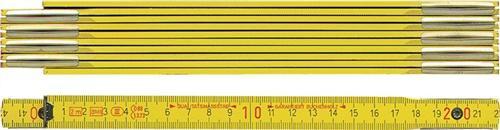 Holzgliedermaßstab 2m gelb BMI