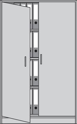 Flügeltürenschrank H1560xB1000xT420mm