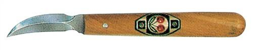 Schnitzmesser gebogen doppelseitig Weißbuchenheft