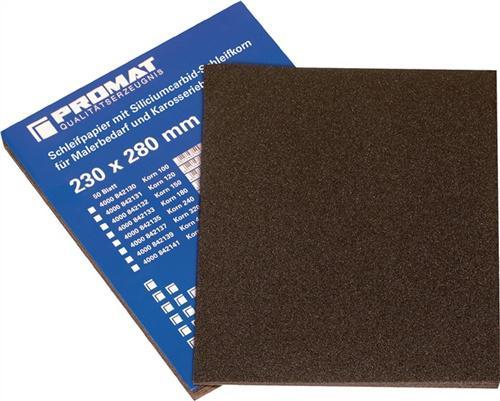 Silicium-Carbid-Papier K.320 sehr fein wasserfest - 50 ST