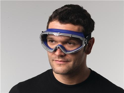 Vollsichtschutzbrille klar Rahmen blau,