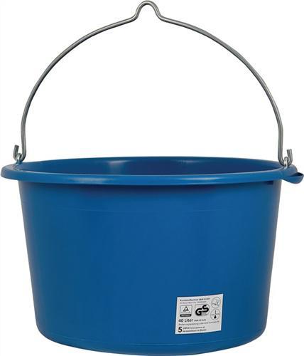 Baueimer Inhalt 40l kranbar blau