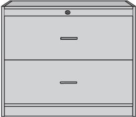 Hängeregistraturschrank H820xB1000xT420mm