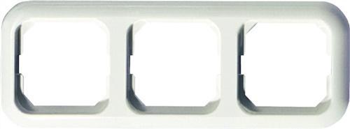 Abdeckrahmen 3fach reinweiß f.Senk-/Waagerecht
