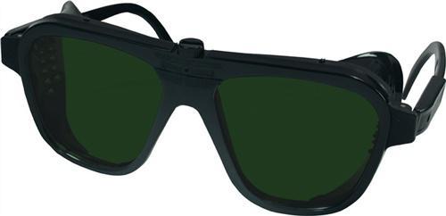 Schweißerbrille grün DIN5 62x52mm Gestell