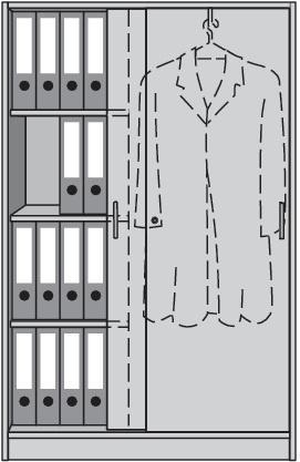 Schiebetürenschrank H1560xB1000xT420mm