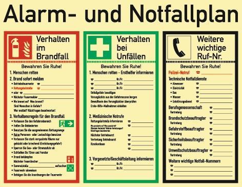 Schild Alarm-u.Notfallpl. 620x480mm