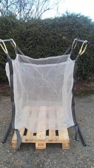 Big Bag für Brennholz 1,0m³, 5-seitig belüftet - 5 Stk  100x100x100cm; mit 4 Halteschlaufen+ 2 unten