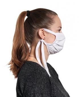 Gesichtstuch 100% Baumwolle, weiß - 1 ST  wasch-/kochbar 90-95 °C, keine Schutzmaske