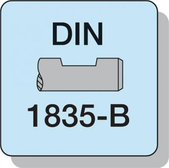 Minibohrnutenfräser D.5mm  HSS-Co8 TiCN Weldon Z.3 kurz PROMAT