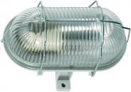 Ovalleuchte 60W/250V Strukturglas Gehäuse
